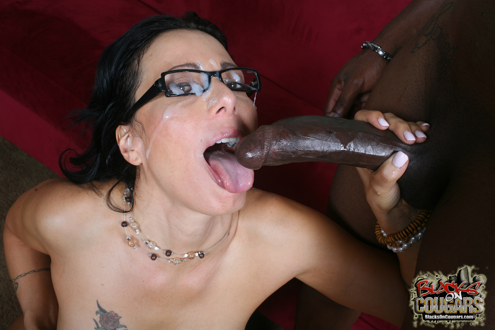 Big black cum shots